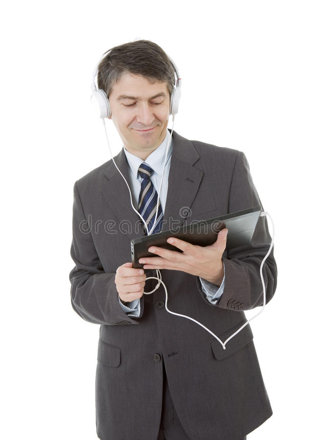 Laptop und Mobiltelefon auf einem weißen Hintergrund lizenzfreies stockbild