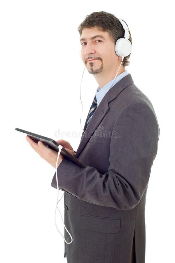 Laptop und Mobiltelefon auf einem weißen Hintergrund lizenzfreies stockfoto