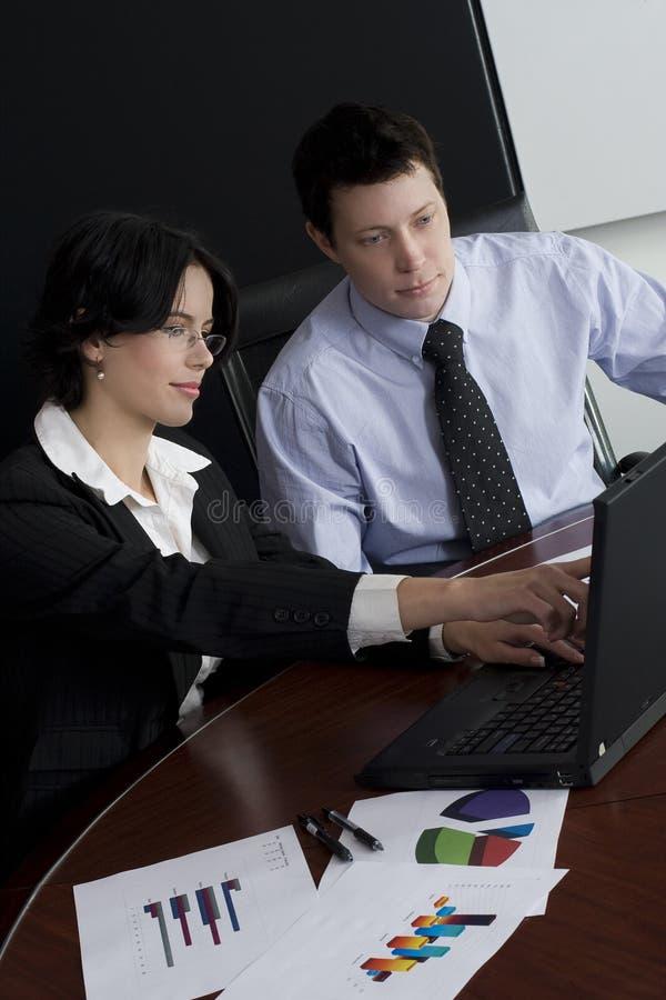 Laptop van Businessteam royalty-vrije stock fotografie