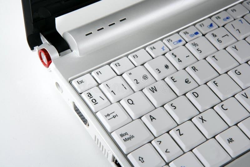 Laptop van de computer keywboard close-upmacro royalty-vrije stock foto's