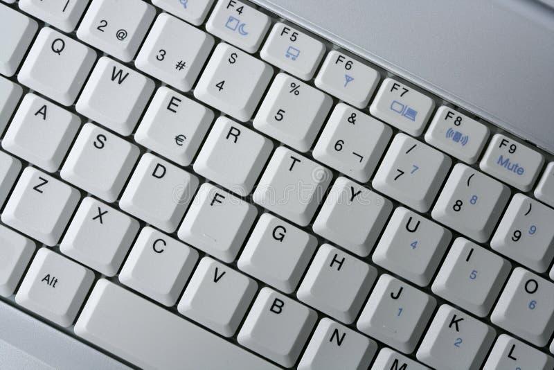 Laptop van de computer keywboard close-upmacro royalty-vrije stock foto