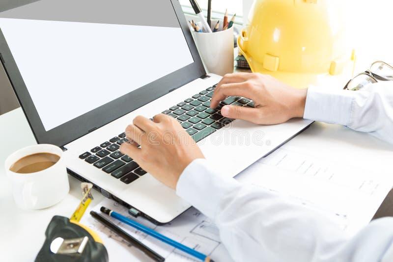 Laptop van het techniekgebruik computer stock afbeelding