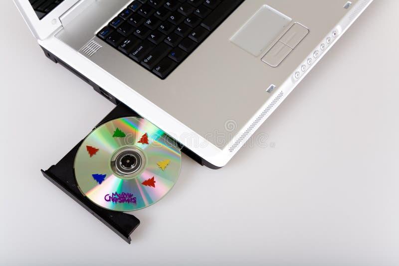 Laptop van Kerstmis royalty-vrije stock foto