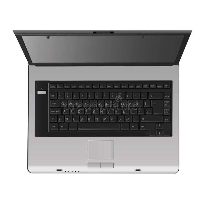 Laptop vector (hoogste mening) royalty-vrije stock fotografie
