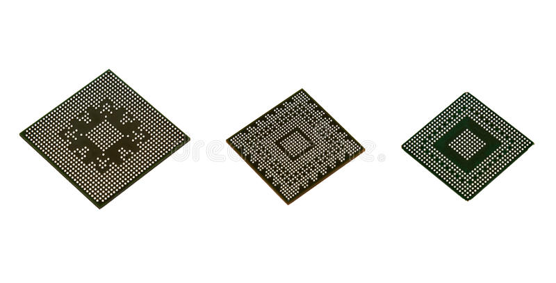 Download Laptop Video Chips On White Background Stock Photo - Image: 26498516