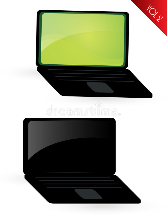 Download Laptop vol2 stock illustration. Image of shape, monitor - 12994890