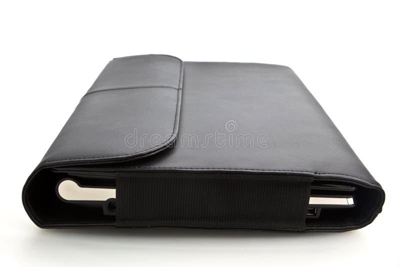 Laptop voor het geval dat stock afbeelding