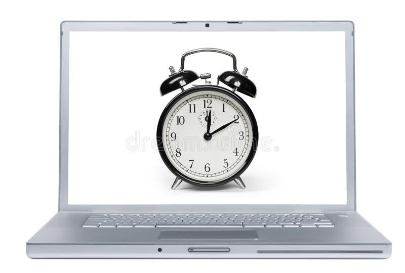 Laptop-Warnung stockbild