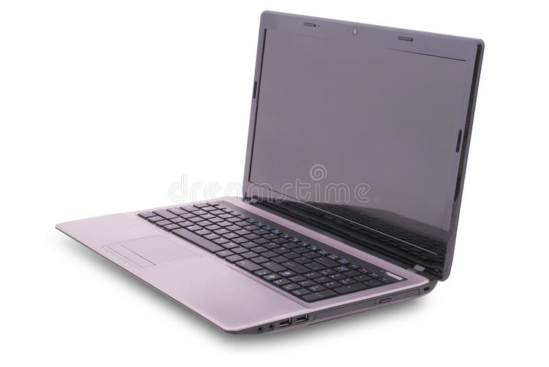 Download Laptop on white stock photo. Image of object, single - 27009214