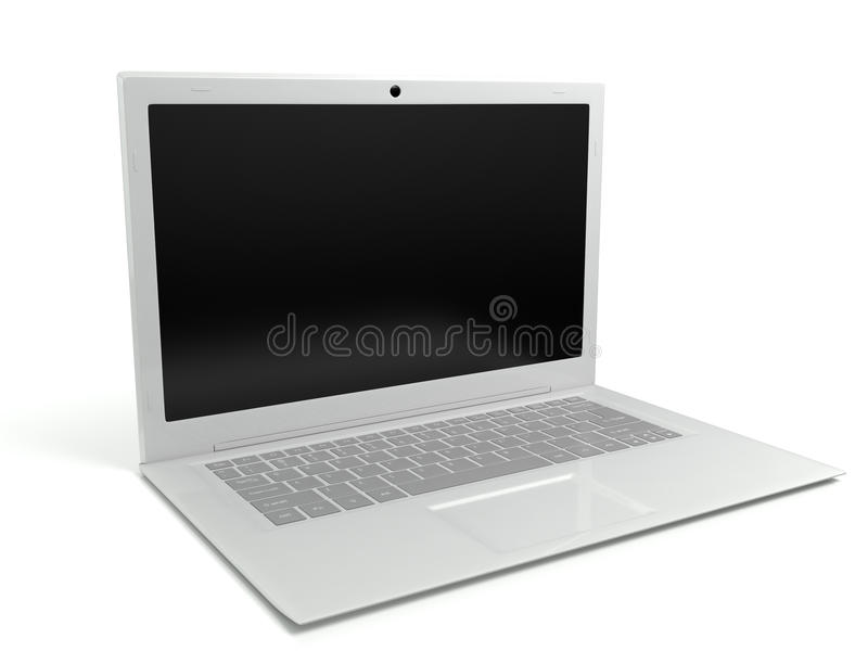 Download Laptop On A White Background Stock Illustration - Illustration of front, contemporary: 24863477