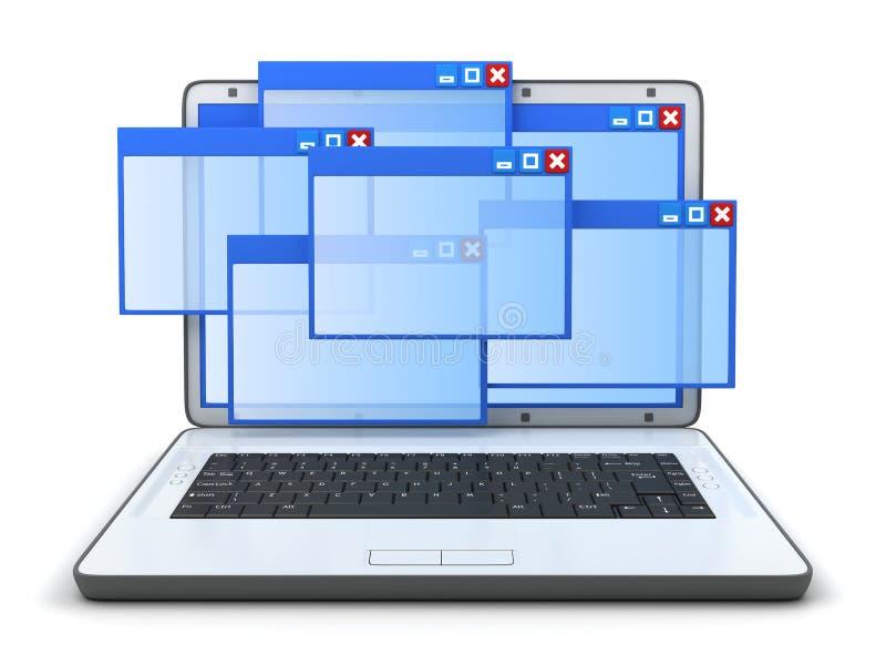 Download Laptop and windows stock illustration. Illustration of window - 22955692