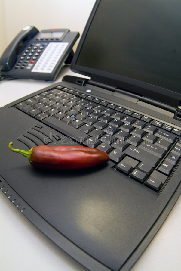 Free Laptop With Pepper 2 Stock Images - 1252004