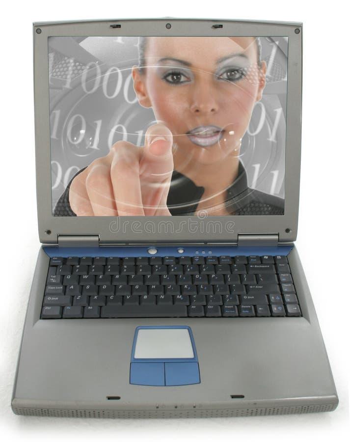 laptop woman στοκ εικόνα