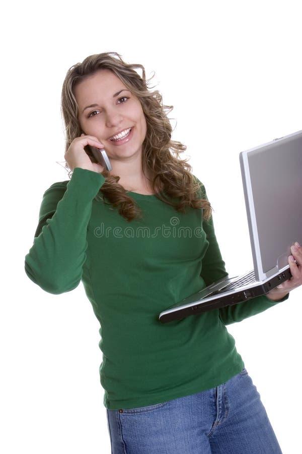 Download Laptop Woman stock image. Image of smile, girls, phone - 1720743