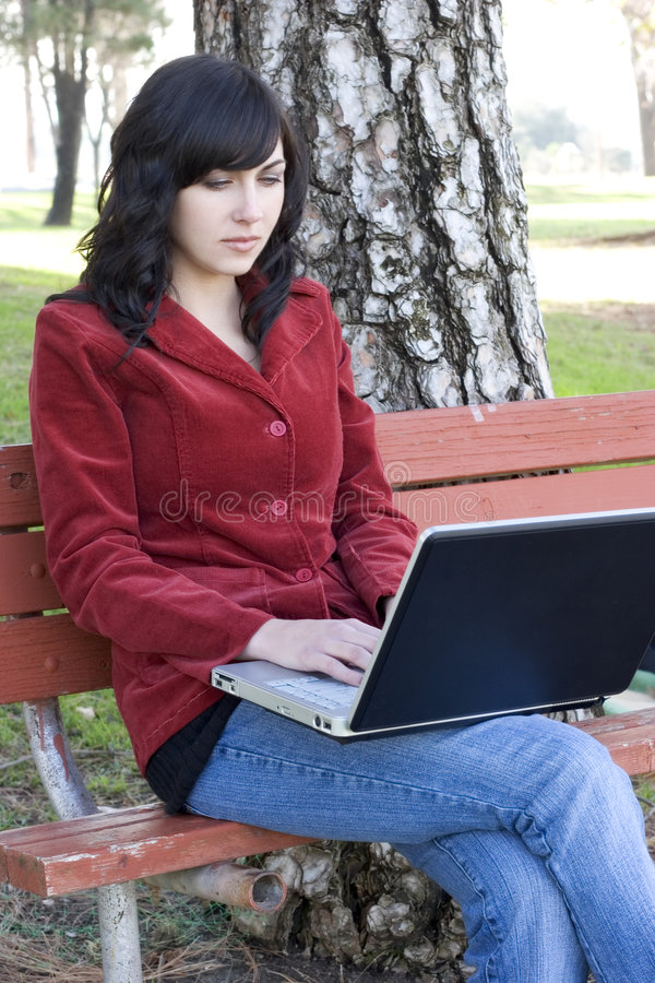 Laptop Woman stock photos