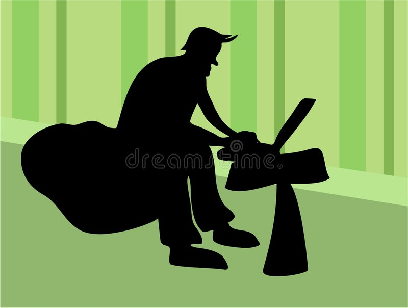 Download Laptop Worker stock illustration. Illustration of sillouettes - 109167