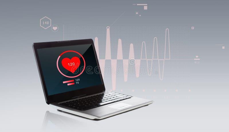 Laptop z kierowego rytmu ikoną ilustracji