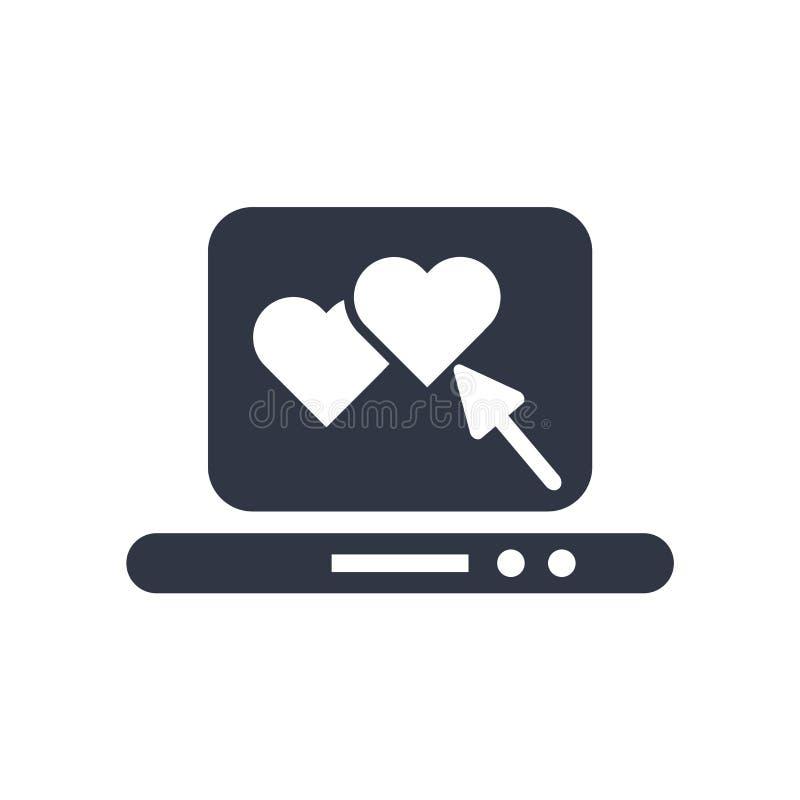 Laptop z znakiem odizolowywającymi na białym tle Kierowym ikona wektoru symbolem i, laptop z Kierowym logo pojęciem ilustracji