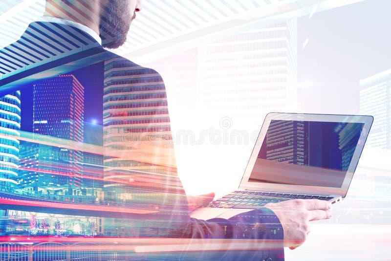 laptopa do biznesmena zdjęcie royalty free