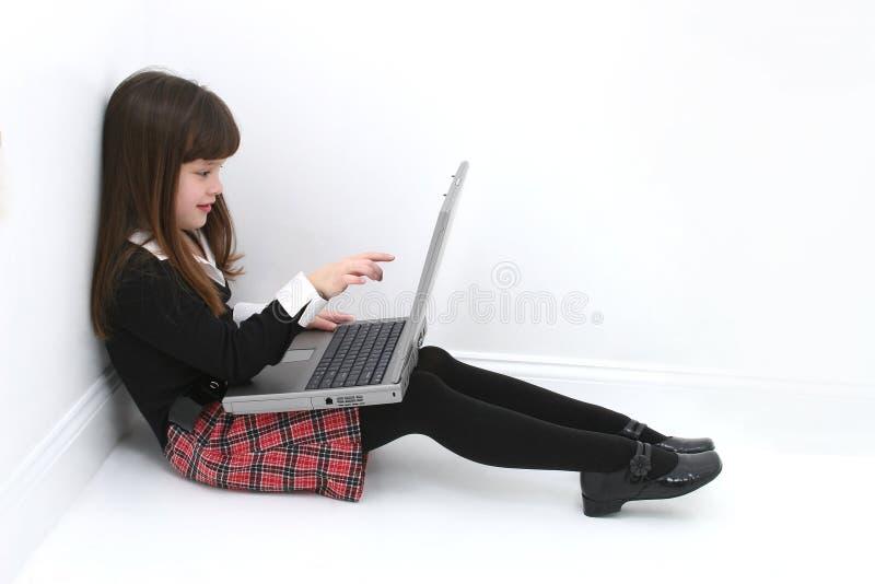 laptopa do dziecka zdjęcie stock