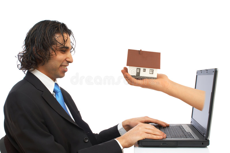 laptopa pieniądze fotografia royalty free