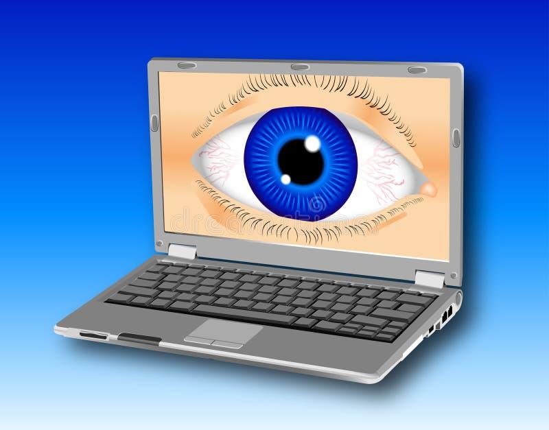 laptopa spyware ilustracji