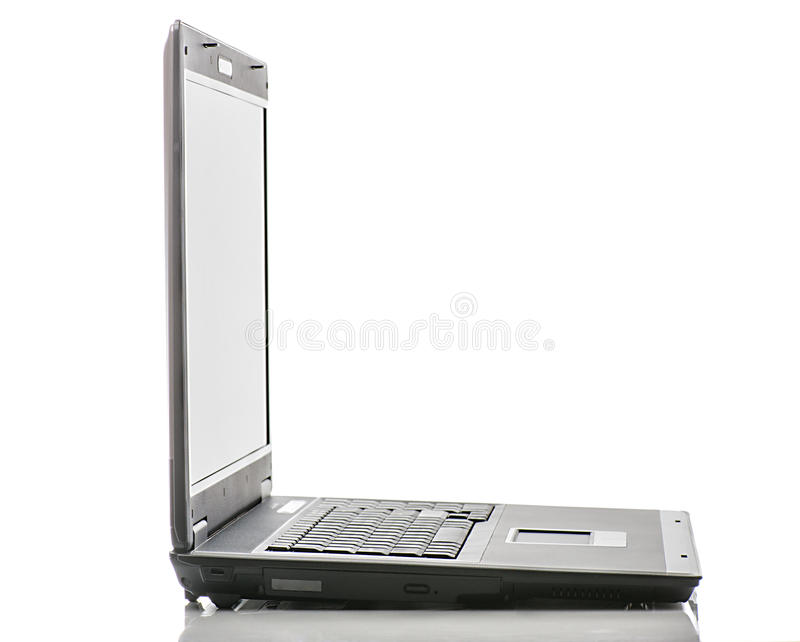 laptopa widok boczny zdjęcie stock
