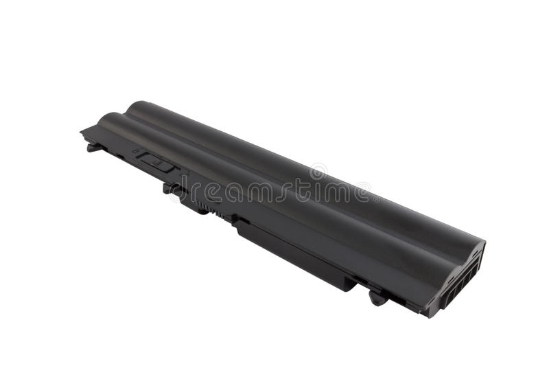 Laptopbatterie stockbilder