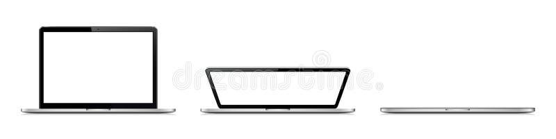 Laptopdeckelauftaktetappen lizenzfreie stockbilder