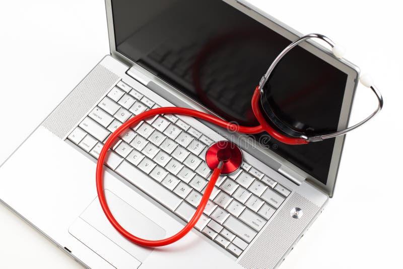 Laptopdiagnose stockbilder