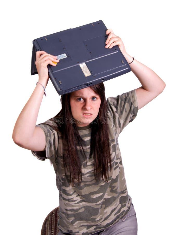 Laptopmühe lizenzfreies stockbild