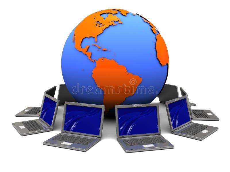 Laptopnetz stock abbildung
