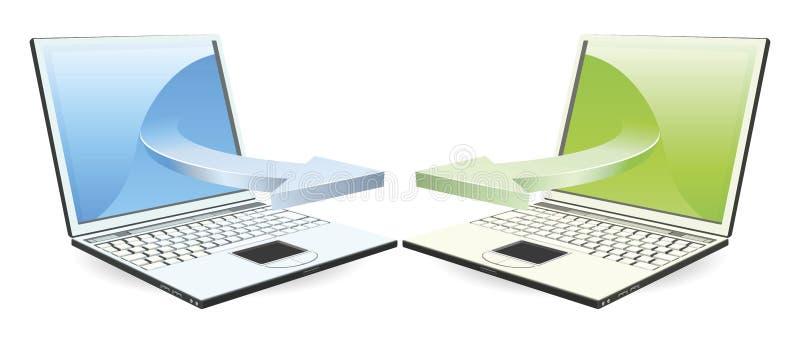 Download Laptops communicating stock vector. Illustration of black - 20041982