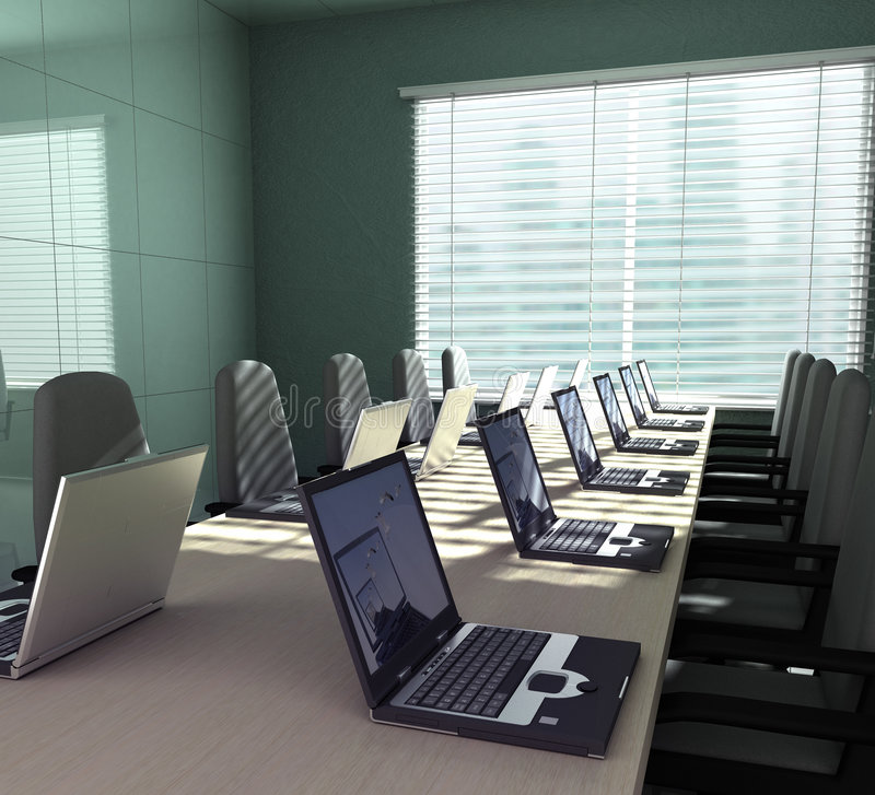 Download Laptops in an empty room stock illustration. Illustration of interior - 2562206