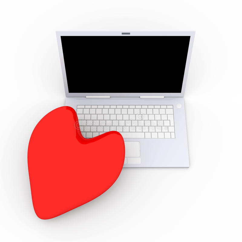 Laptops In Love Stock Photography