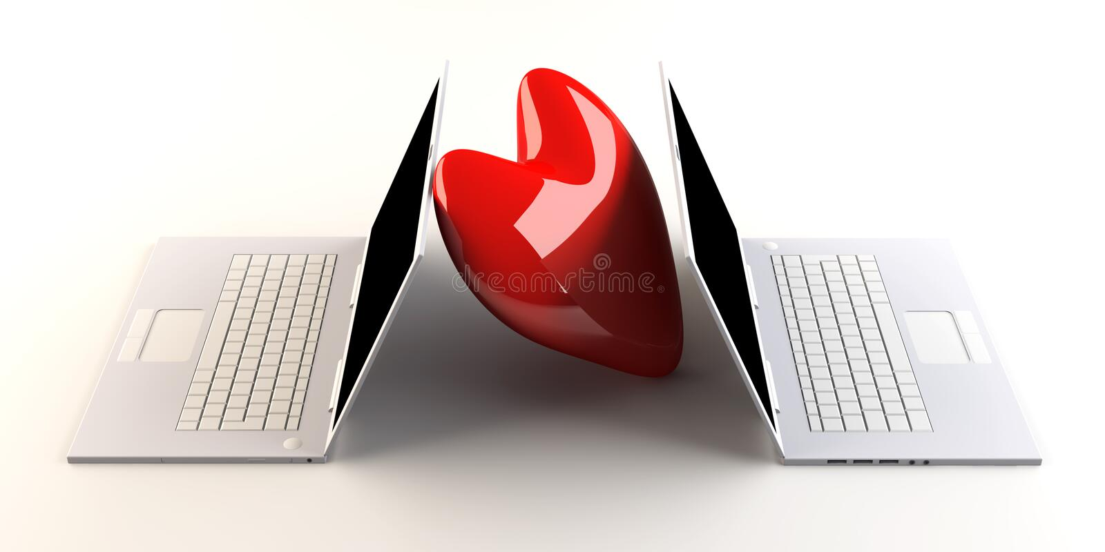 Download Laptops in Love stock illustration. Image of chat, display - 15929599