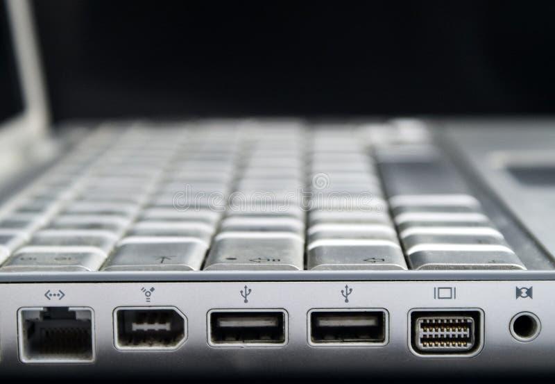 Laptops ports royalty free stock image