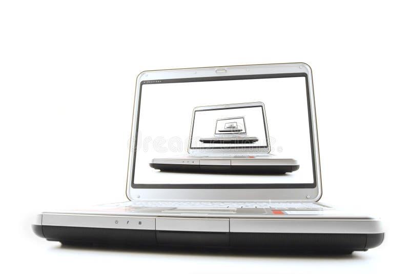 Laptops van de oneindigheid royalty-vrije stock afbeelding