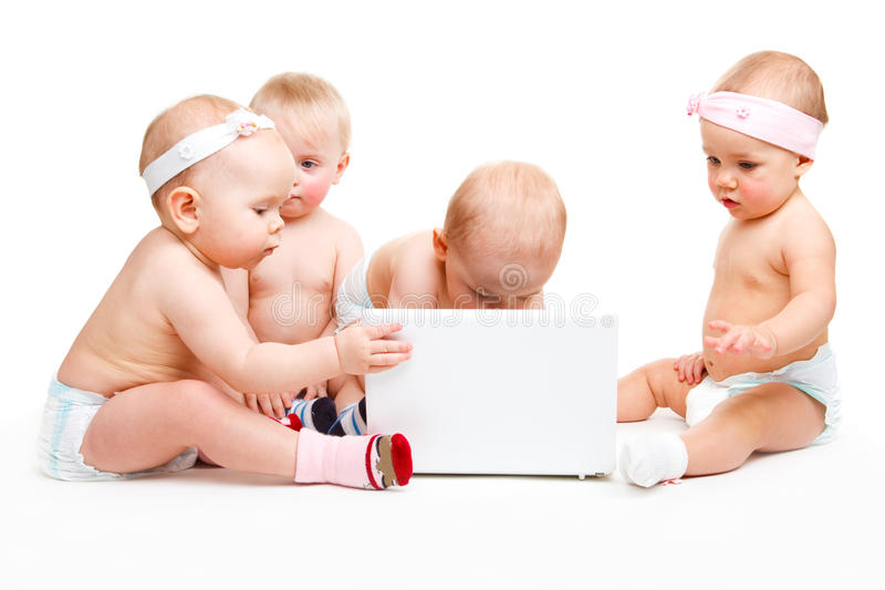 Laptopschätzchen lizenzfreies stockfoto