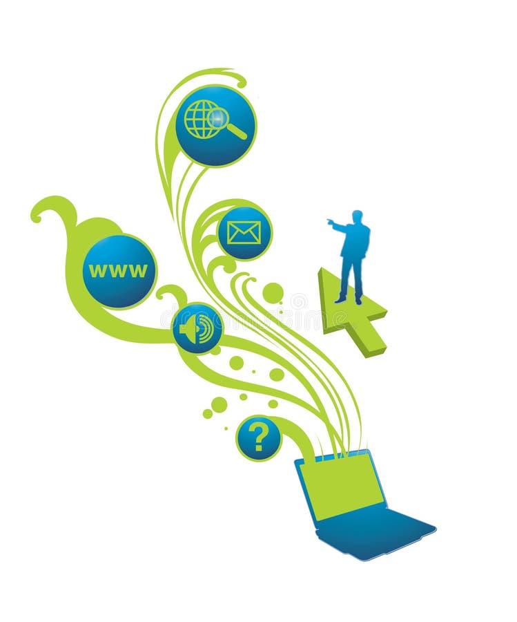 laptopsolution royaltyfri illustrationer