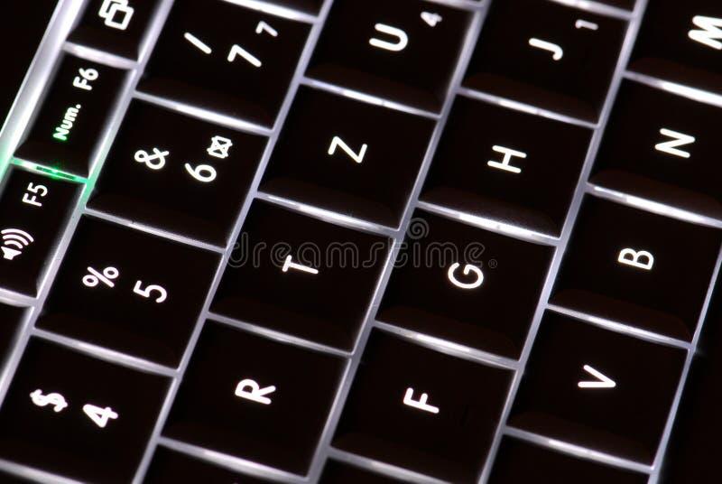 Laptoptasten lizenzfreie stockbilder