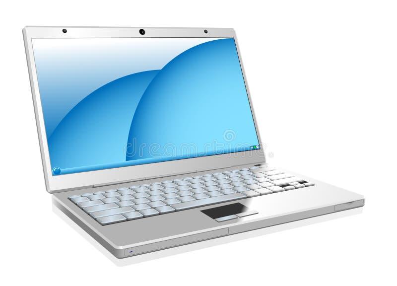 laptopu biel royalty ilustracja