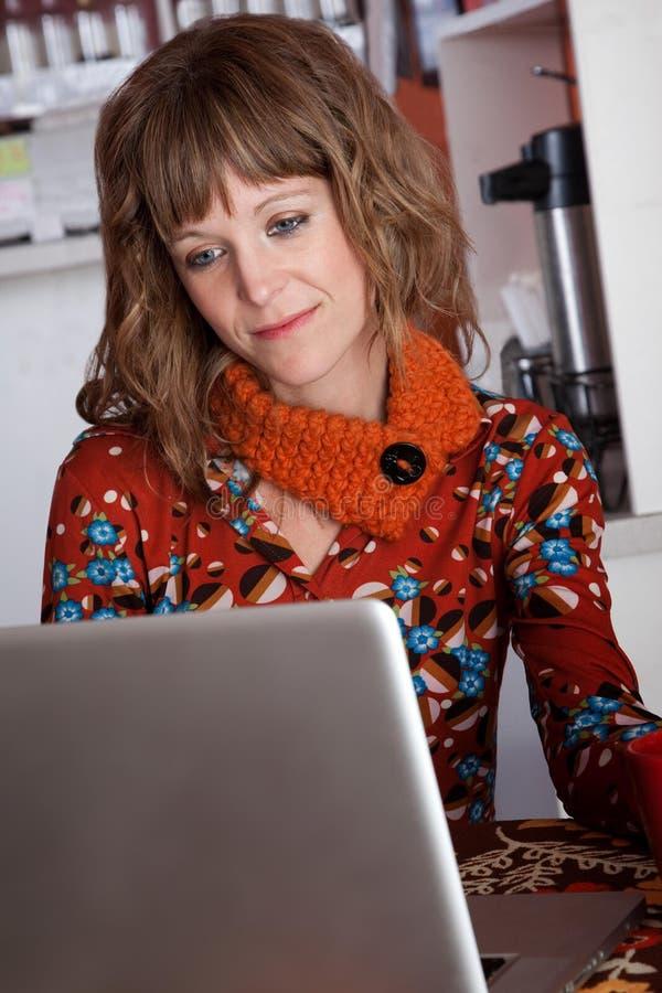 laptopu cukierniany działanie obrazy royalty free
