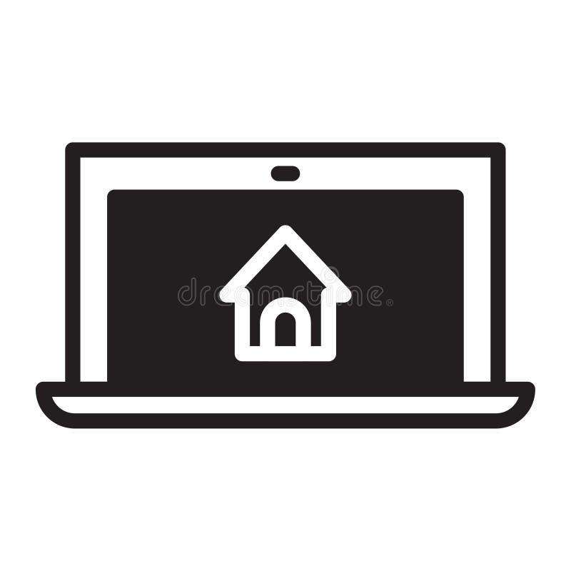 Laptopu dom ilustracja wektor