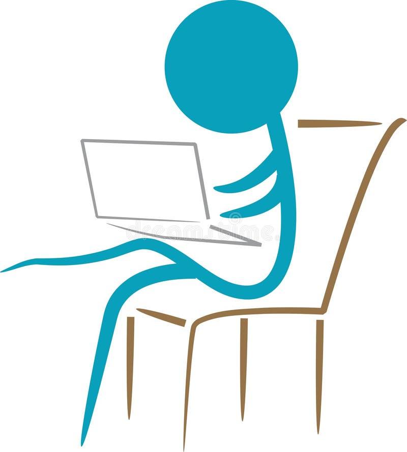 laptopu działanie royalty ilustracja