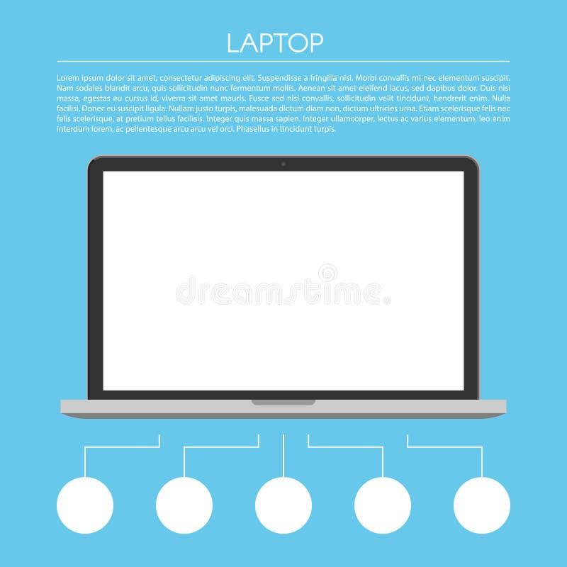 Laptopu infographic projekt royalty ilustracja