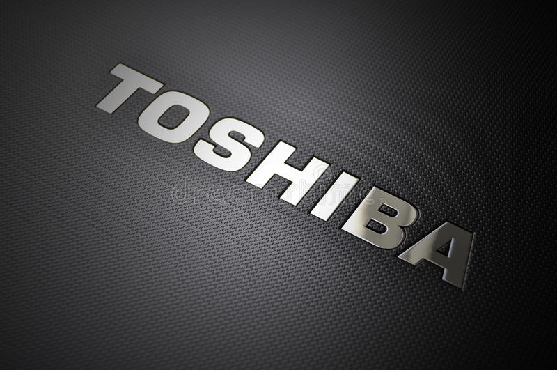 laptopu logo Toshiba obrazy royalty free