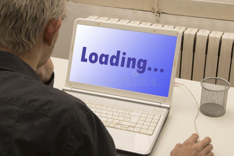 laptopu mężczyzna fotografia stock