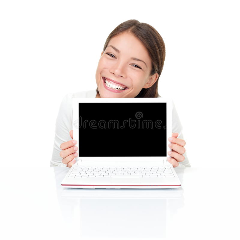 laptopu netbook kobieta zdjęcie royalty free