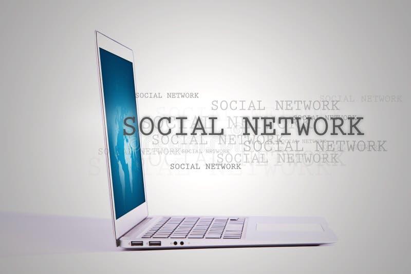 laptopu sieci socjalny zdjęcia royalty free